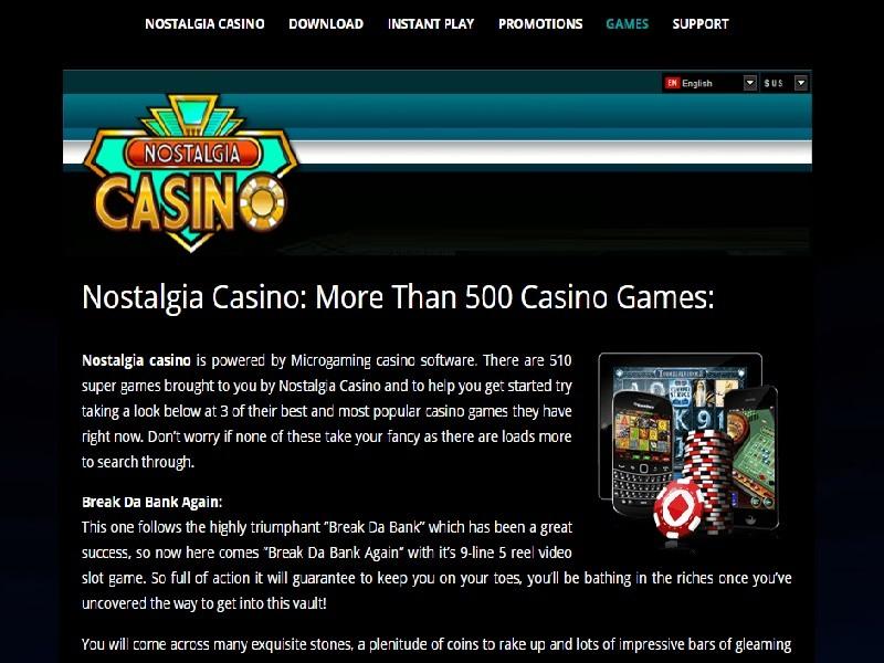 Nostalgia Casino Flash