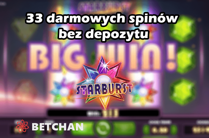 Bonus bez depozytu w kasynie Betchan – 33 darmowych spinów!