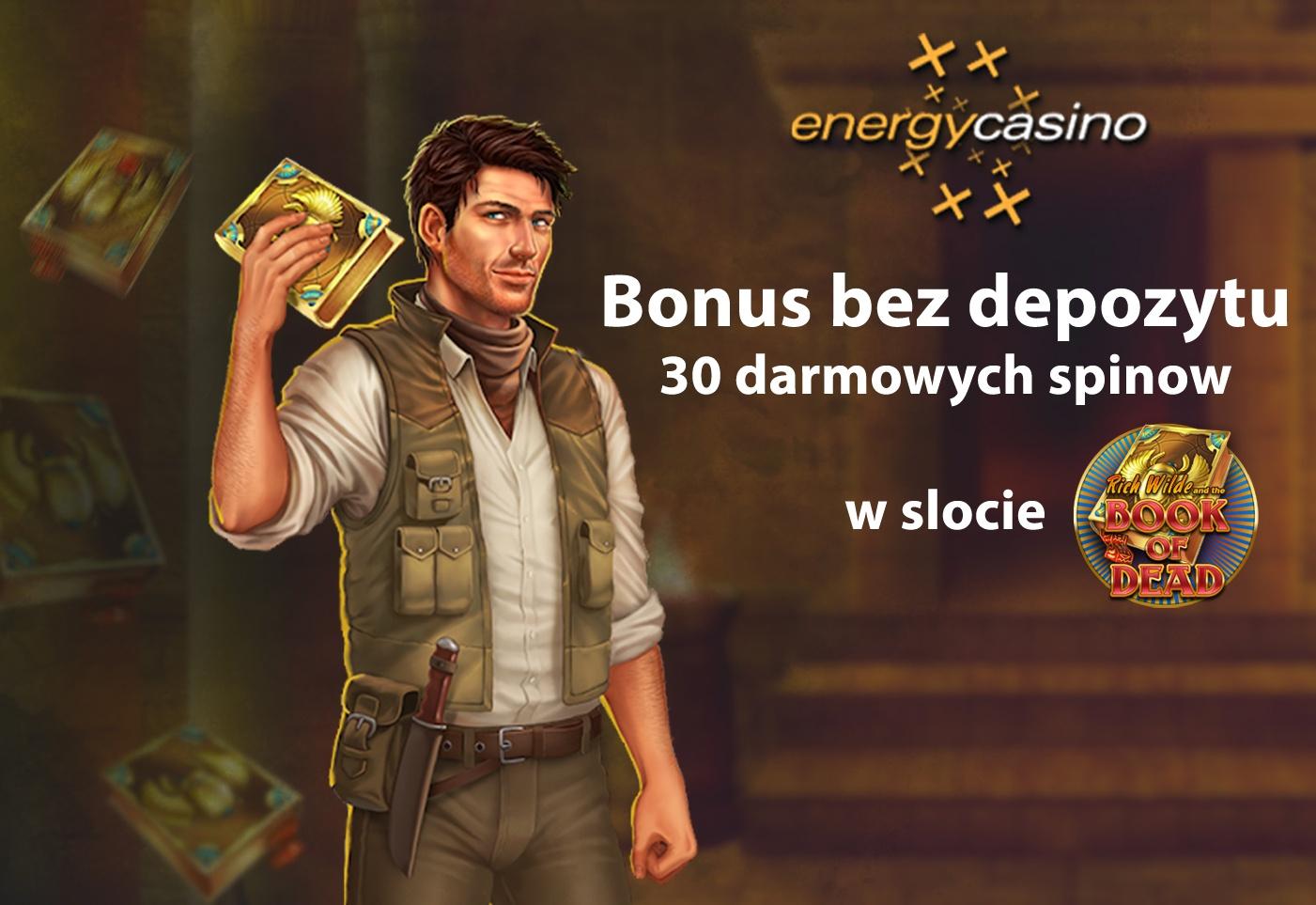 Bonus bez depozytu w kasynie Energy – 30 darmowych spinów!