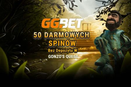 Bonus bez depozytu GGBet – 50 darmowych spinów na Gonzo's Quest!