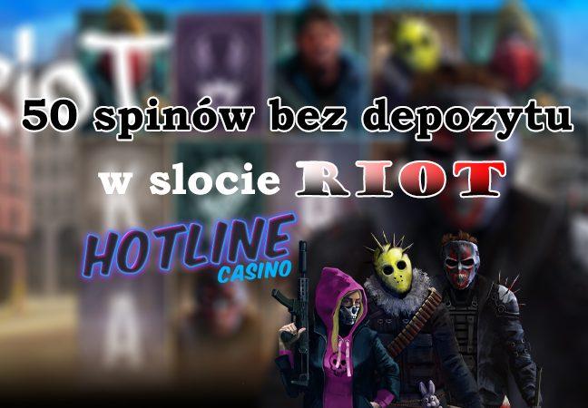 Bonus bez depozytu Hotline – 50 darmowych spinów!