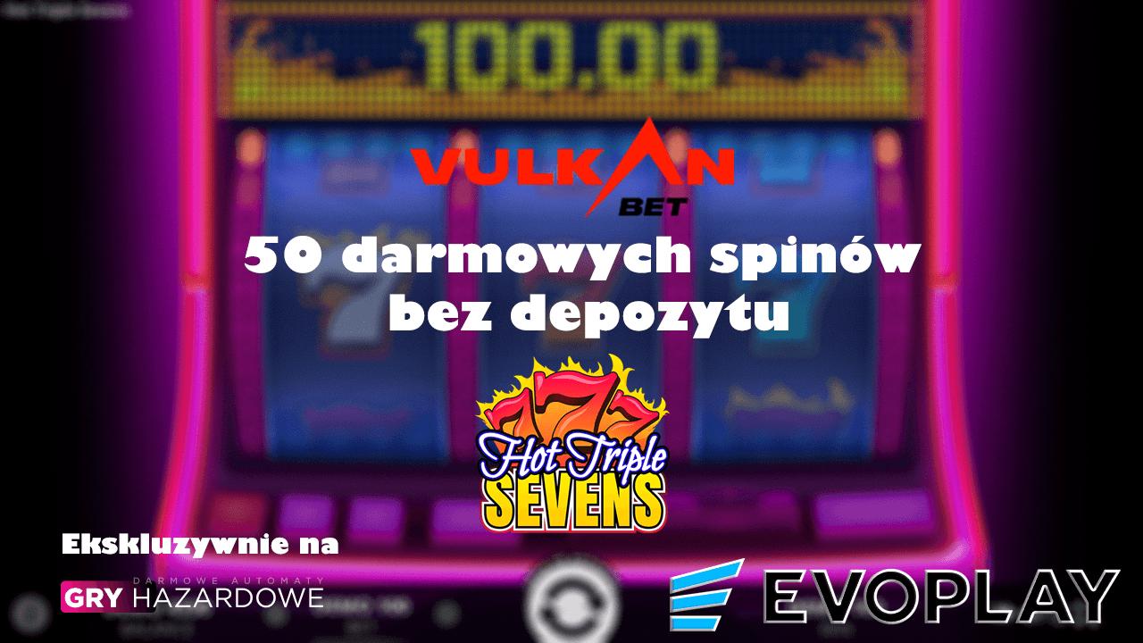 Bonus bez depozytu w VulkanBet 50 spinów – Tylko dla Gry Hazardowe Za Darmo!